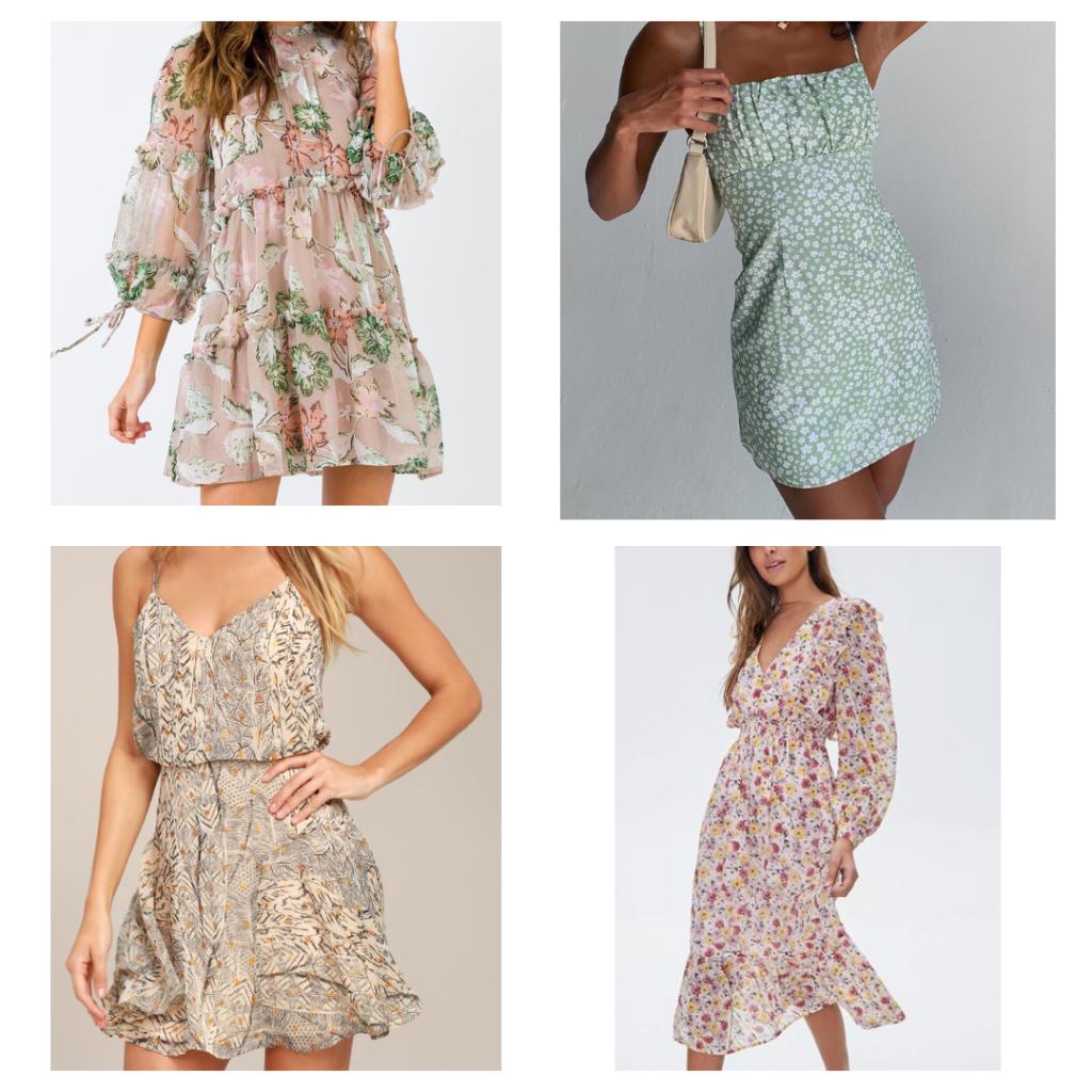 floral dresses, peasant dresses