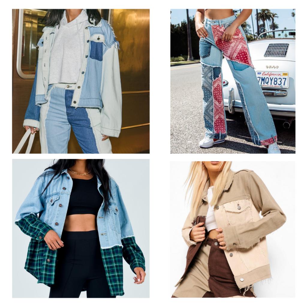 2021 fashion trends - patchwork denim