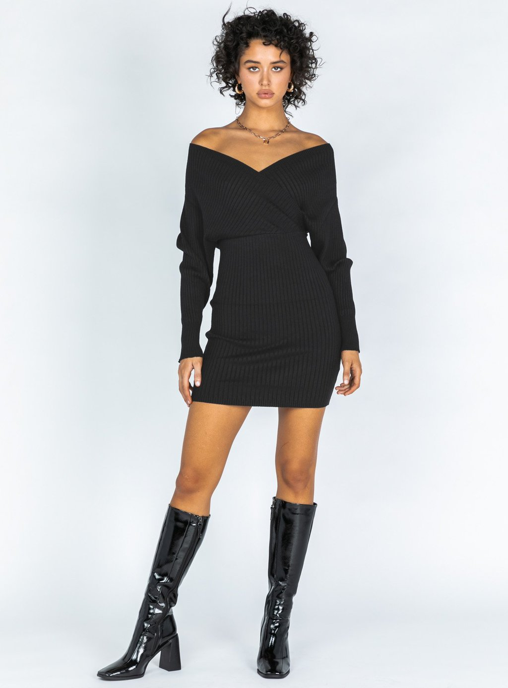 Kaia mini sweater dress from Princess Polly