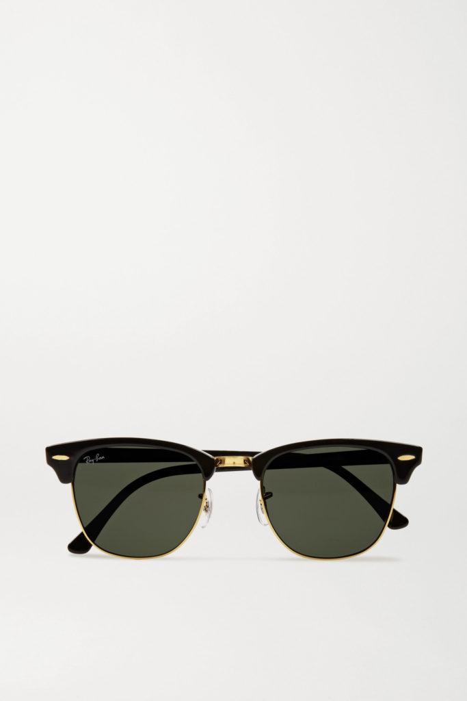 Black Clubmaster sunglasses