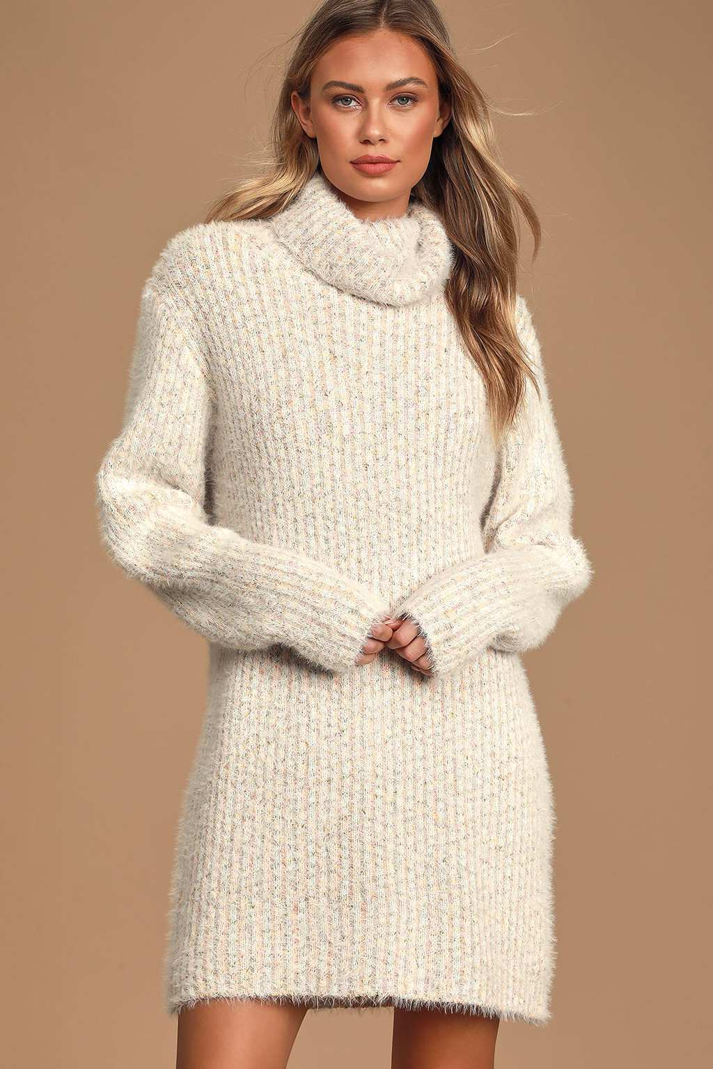 Eyelash knit sweater dress from Lulus