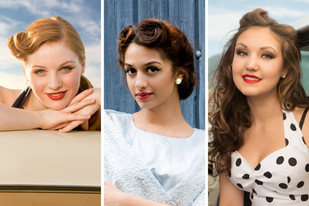 Examples of 1950s hair