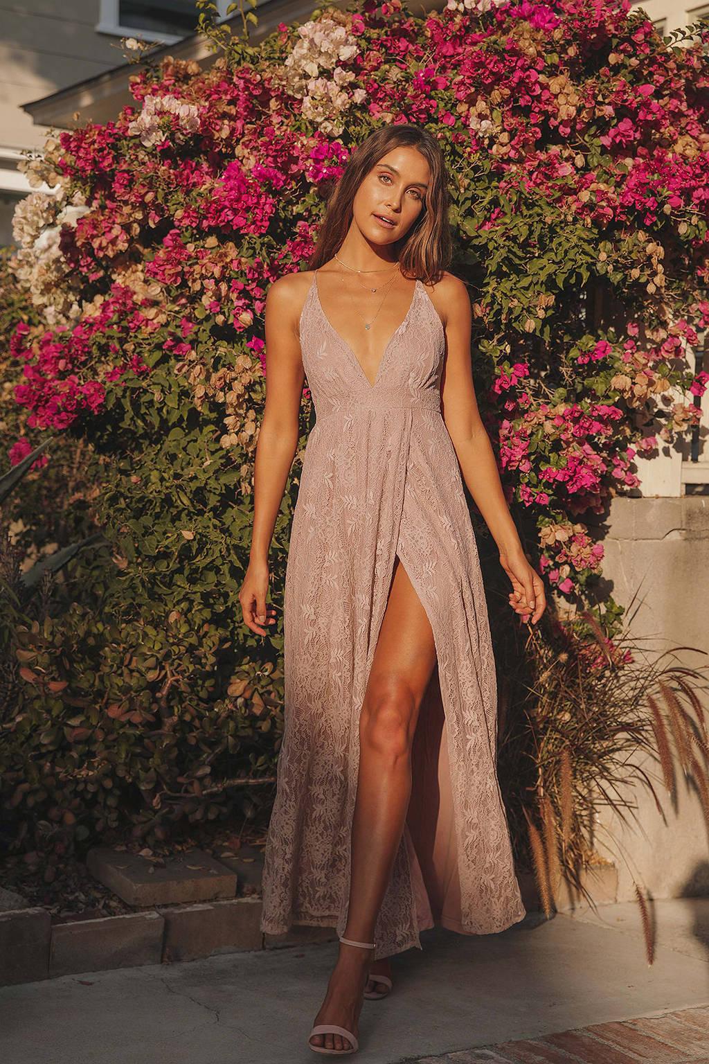 Dusty pink maxi dress from Lulu's