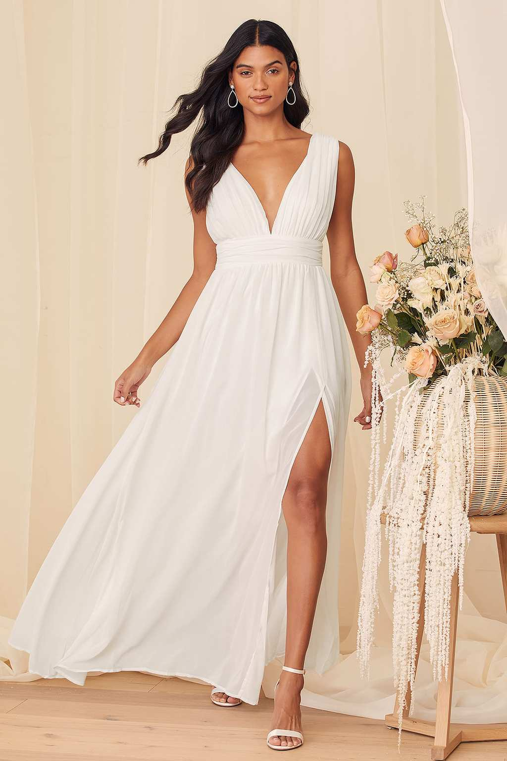 White Maxi Dress from Lulu's