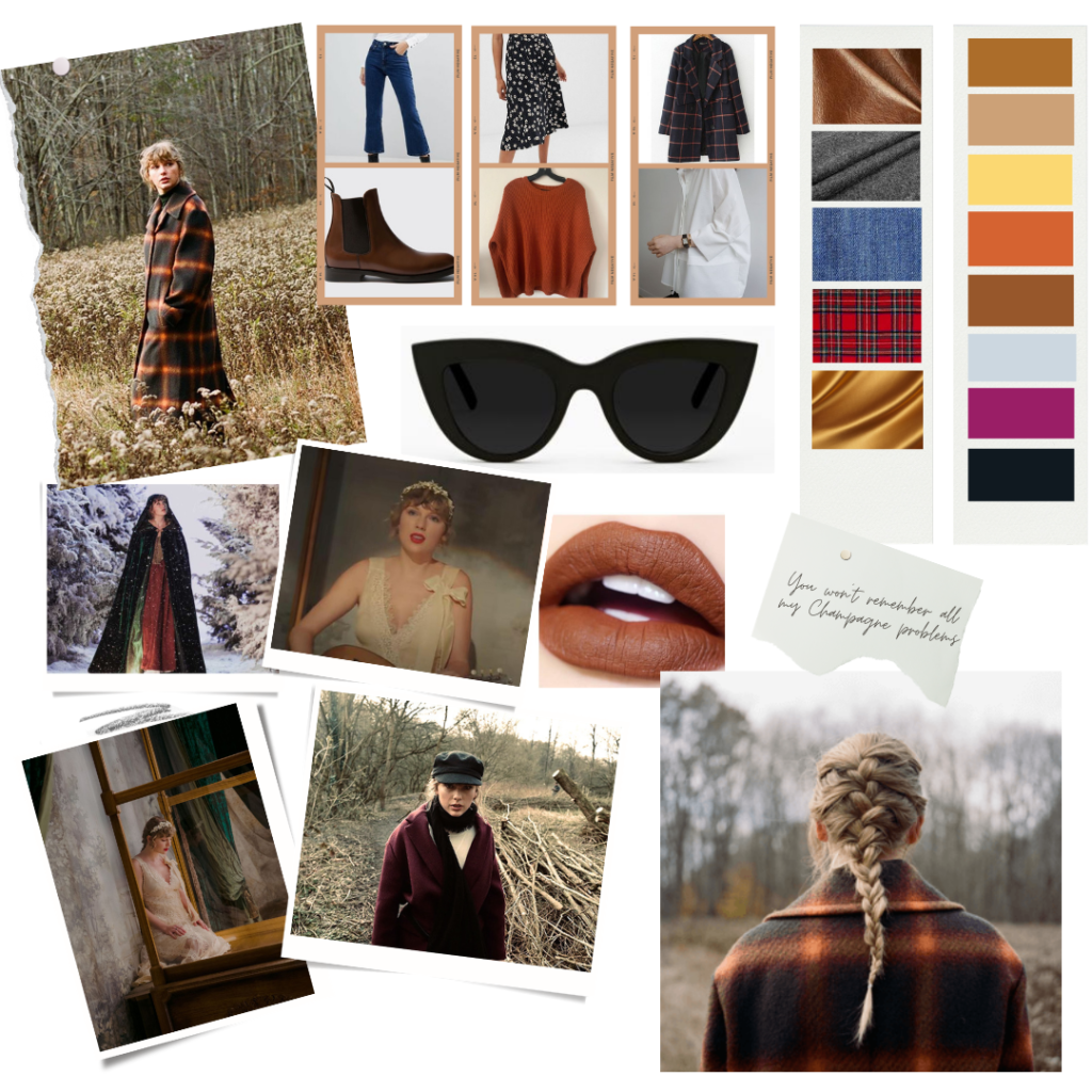 Taylor Swift evermore fashion mood board