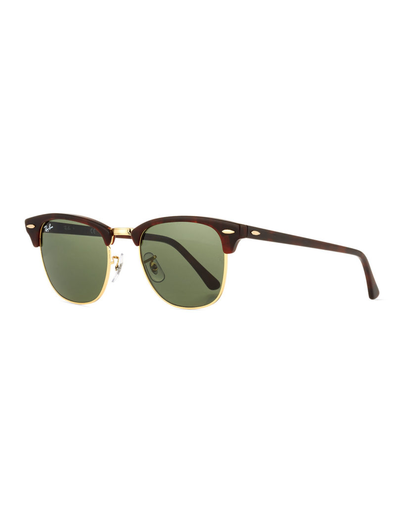 Brown clubmaster sunglasses by Ray Ban