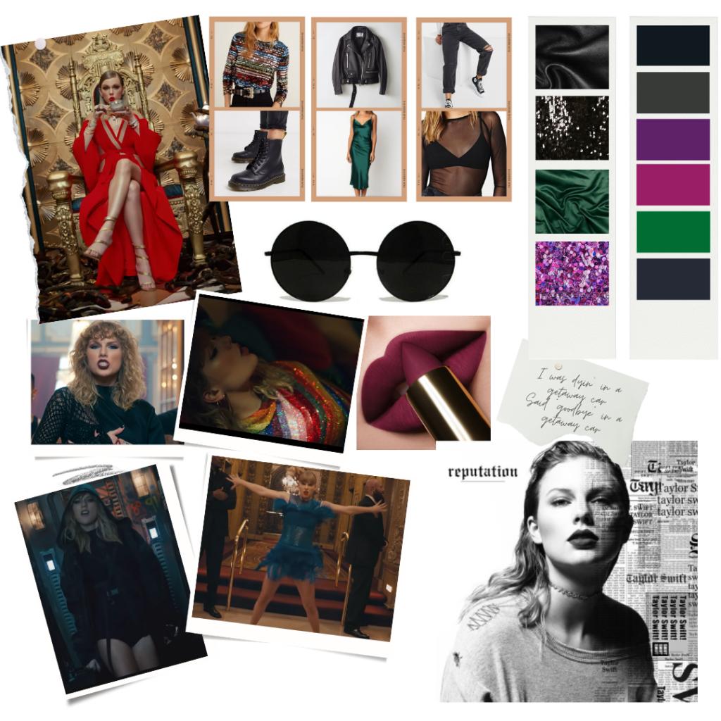 Taylor Swift reputation era fashion mood board