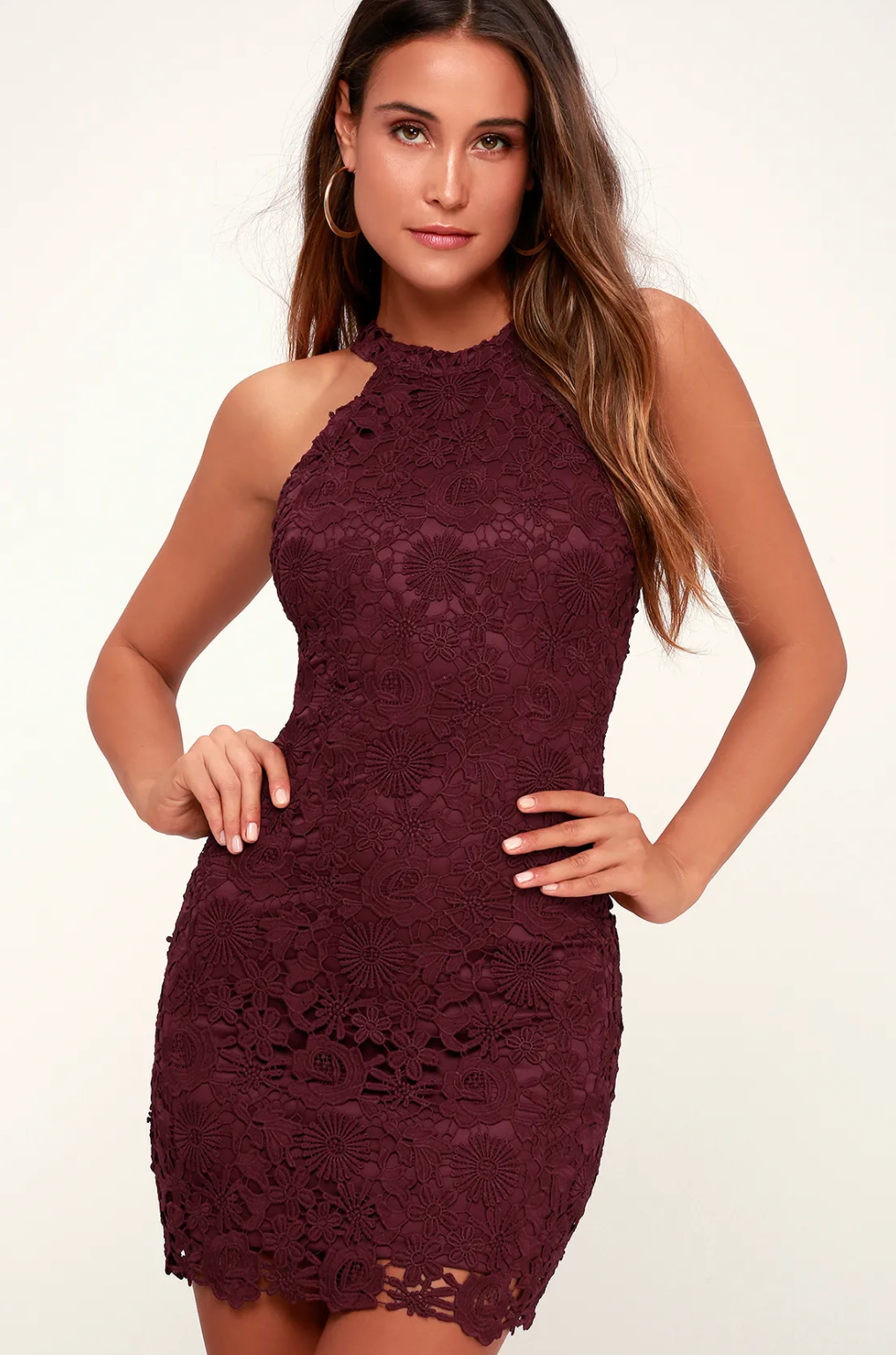 Lace mini dress from Lulu's