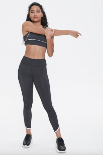 Black and white cute workout set from Forever 21