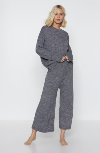 Knit college loungewear set from Nasty Gal