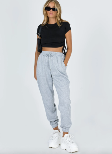Baggy grey sweatpants from Princess Polly