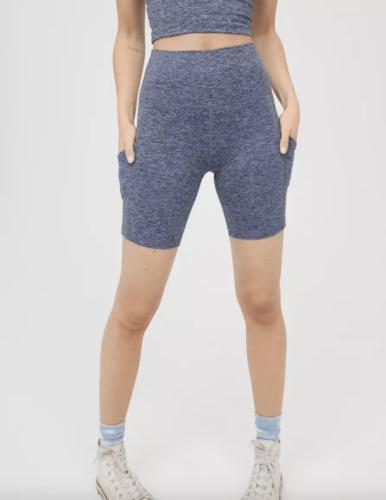 Heather grey biker shorts from Aerie