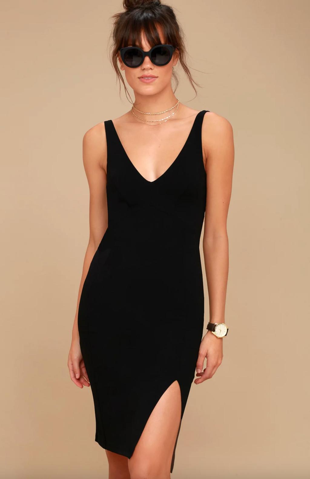 Chic black dress from Lulu's
