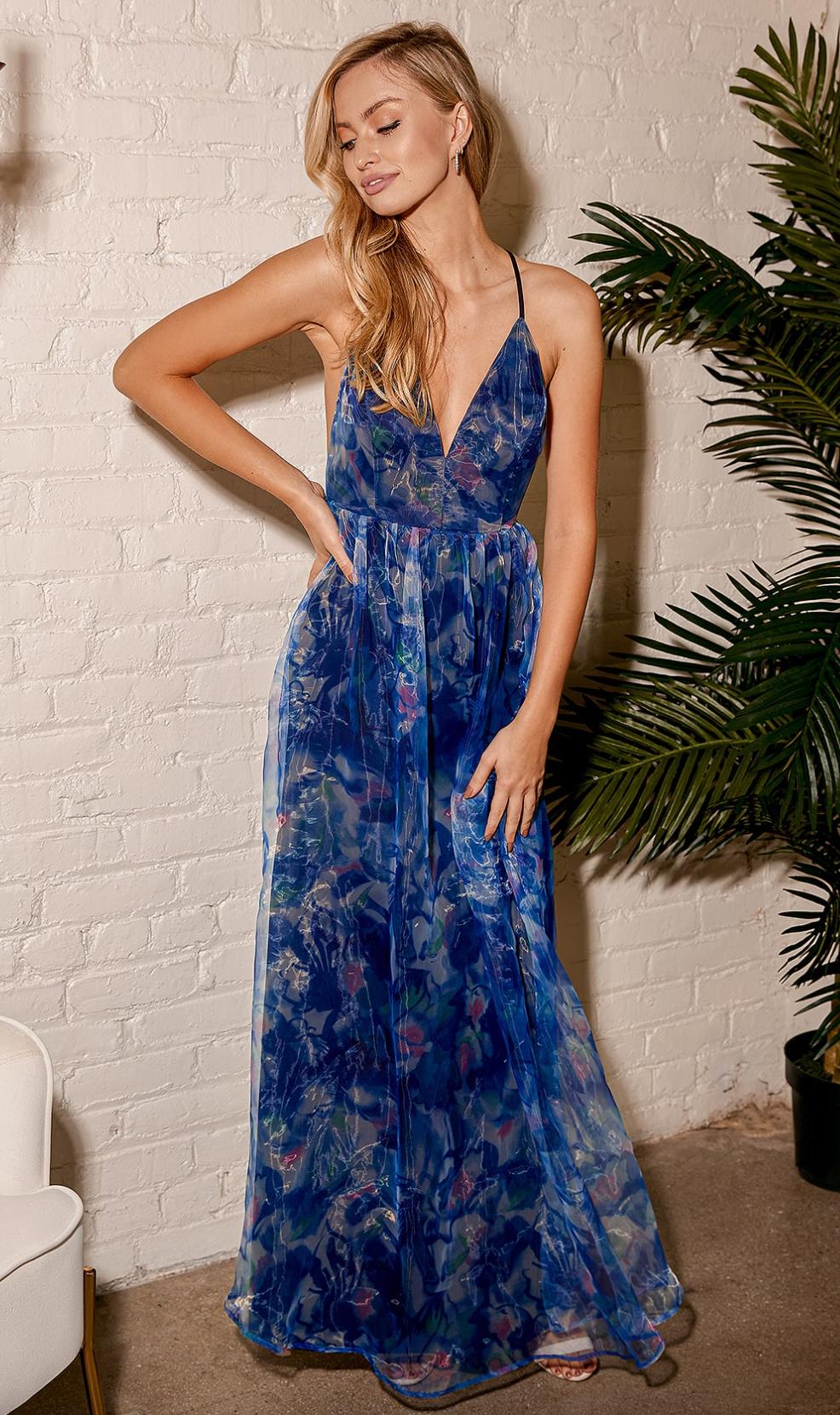 Navy blue maxi dress from Lulu's
