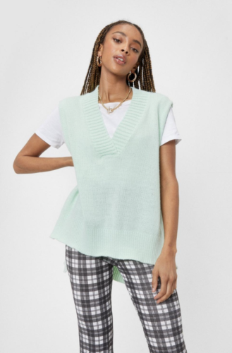 Mint green knit top from Nasty Gal