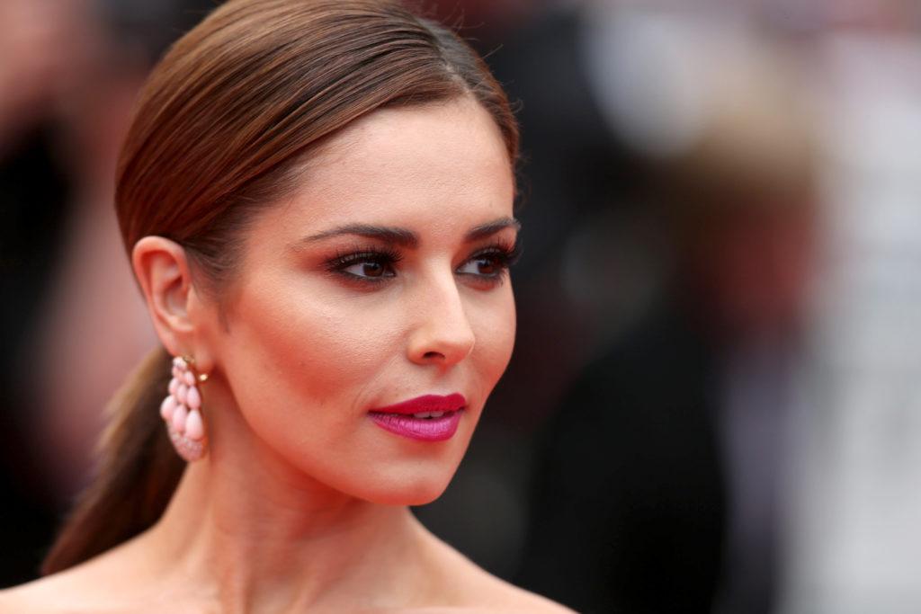 Cheryl wearing hot pink lipstick