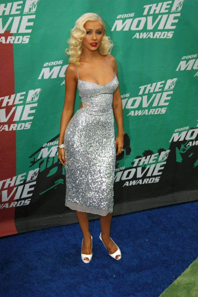 Christina aguilera at the 2006 mtv movie awards