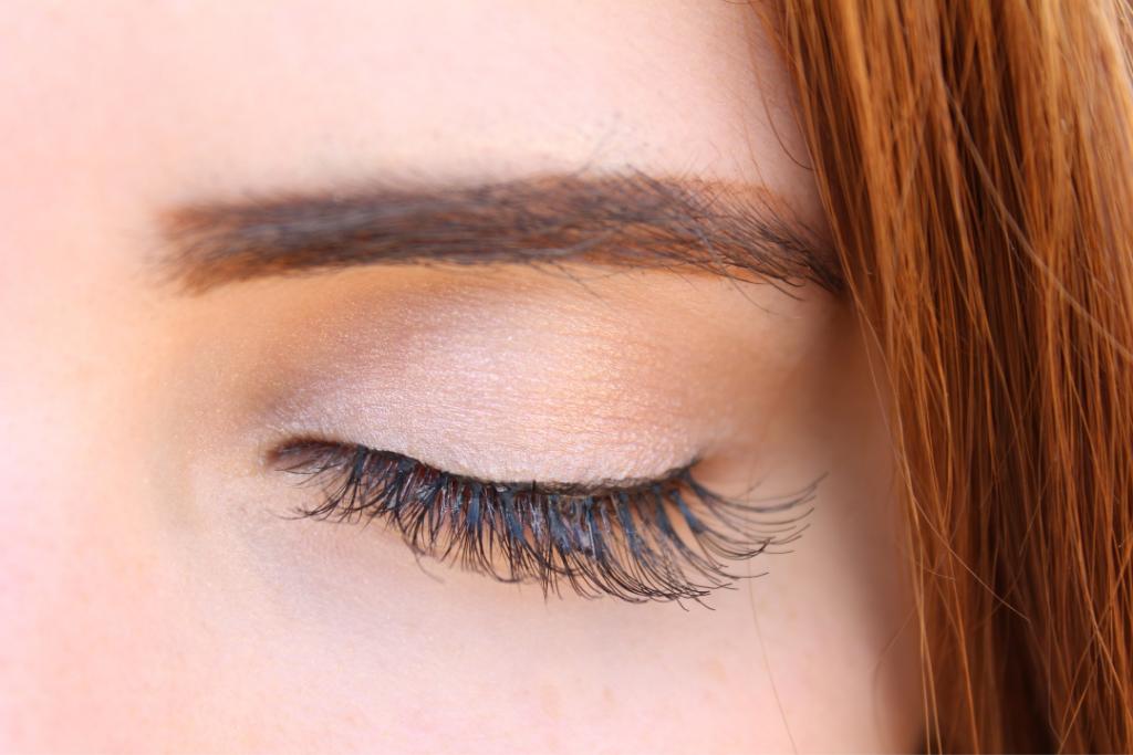 Eyelashes up close