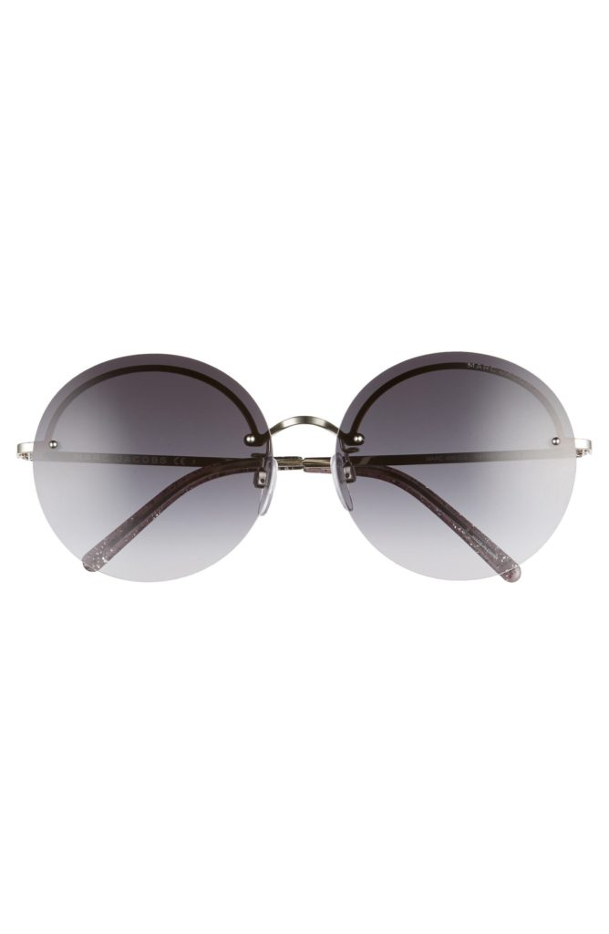 Clear and gray round sunglasses from Net a Porter
