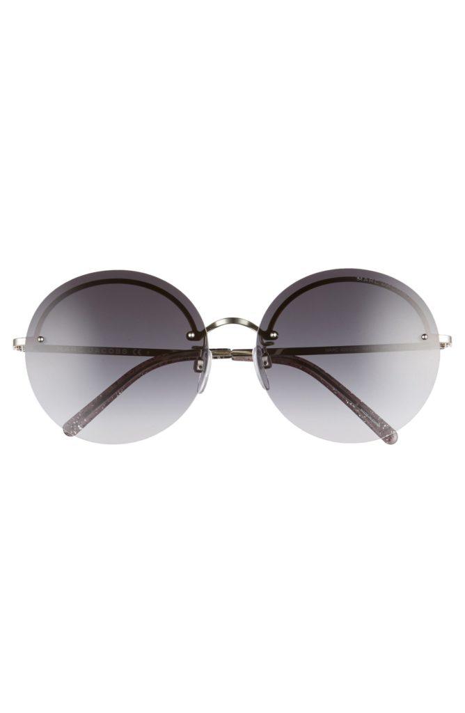Gray round sunglasses