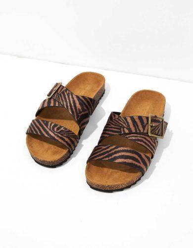 AE animal print sandals