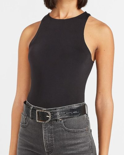 Express Double Layer High Neck Bodysuit