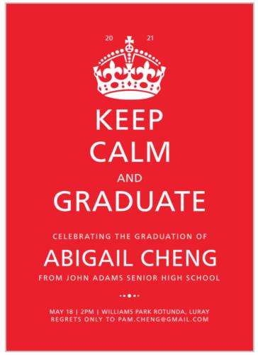 Keep Calm and Graduate announcement