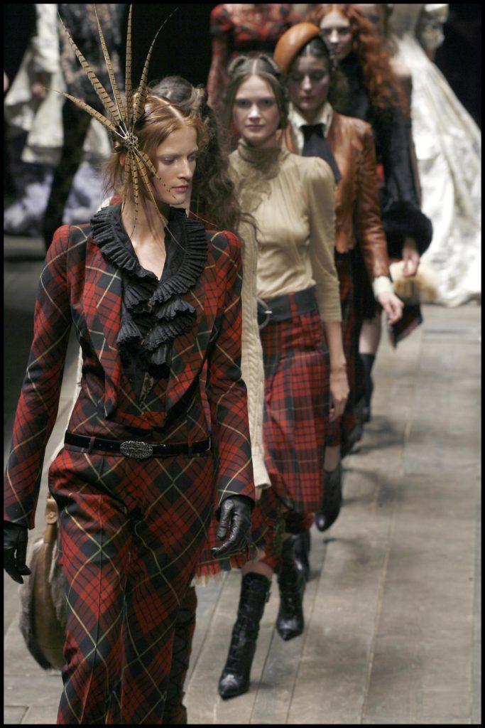 Alexander McQueen runway show in 2006