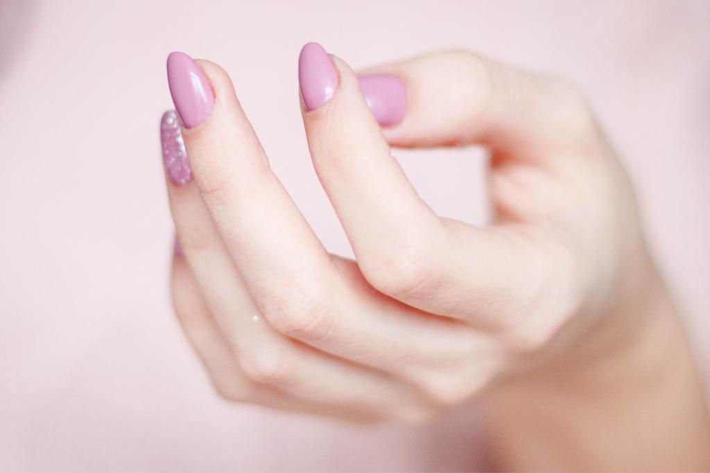 Nail enhancements - photo of acrylic nails