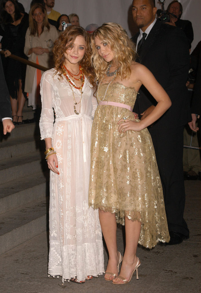 Mary-Kate and Ashley Olsen at the 2005 Met Gala