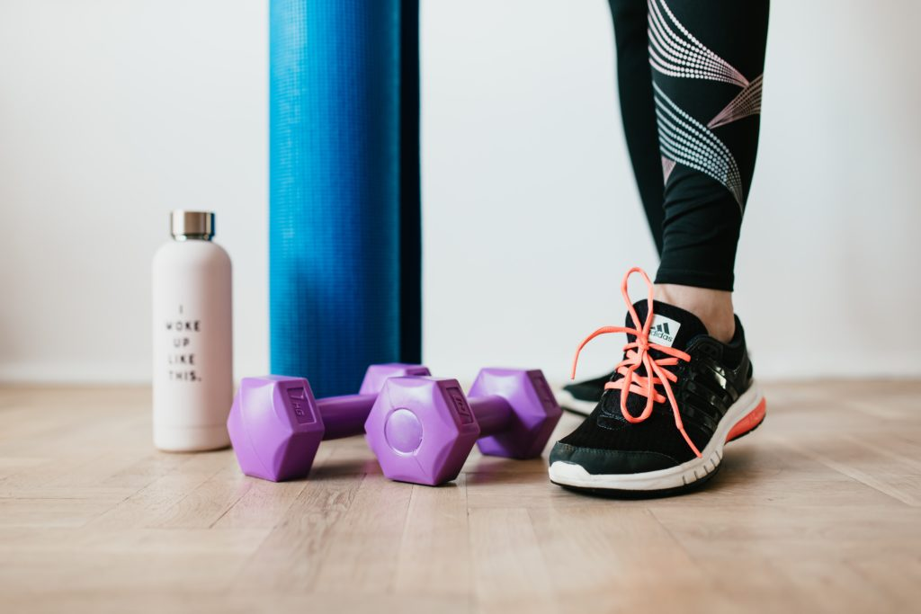 Workout gear and yoga mat