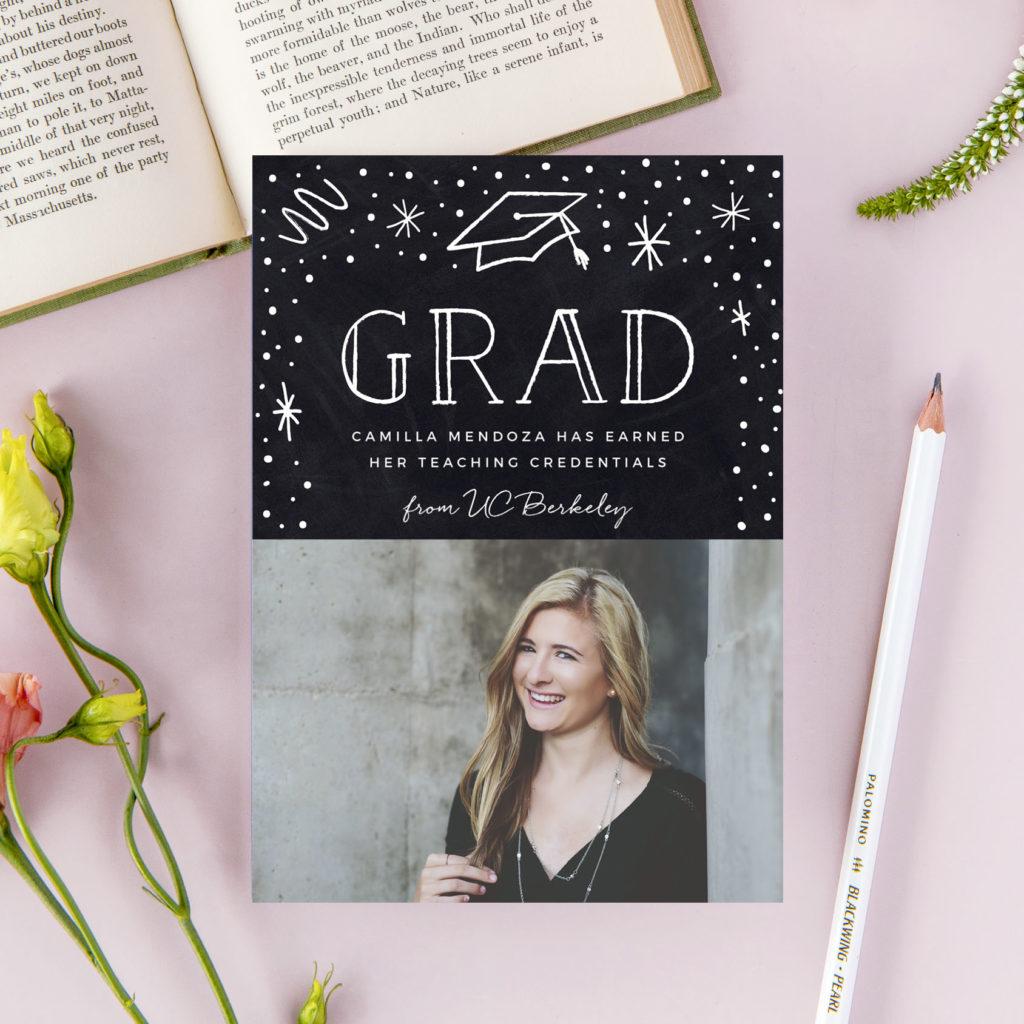 Graduation announcements 2021: Photo of a cute Graduation announcement