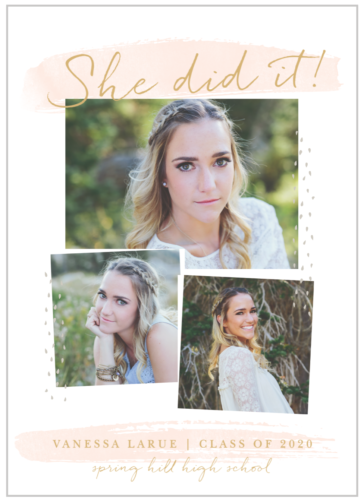 She Did It graduation announcement for 2021