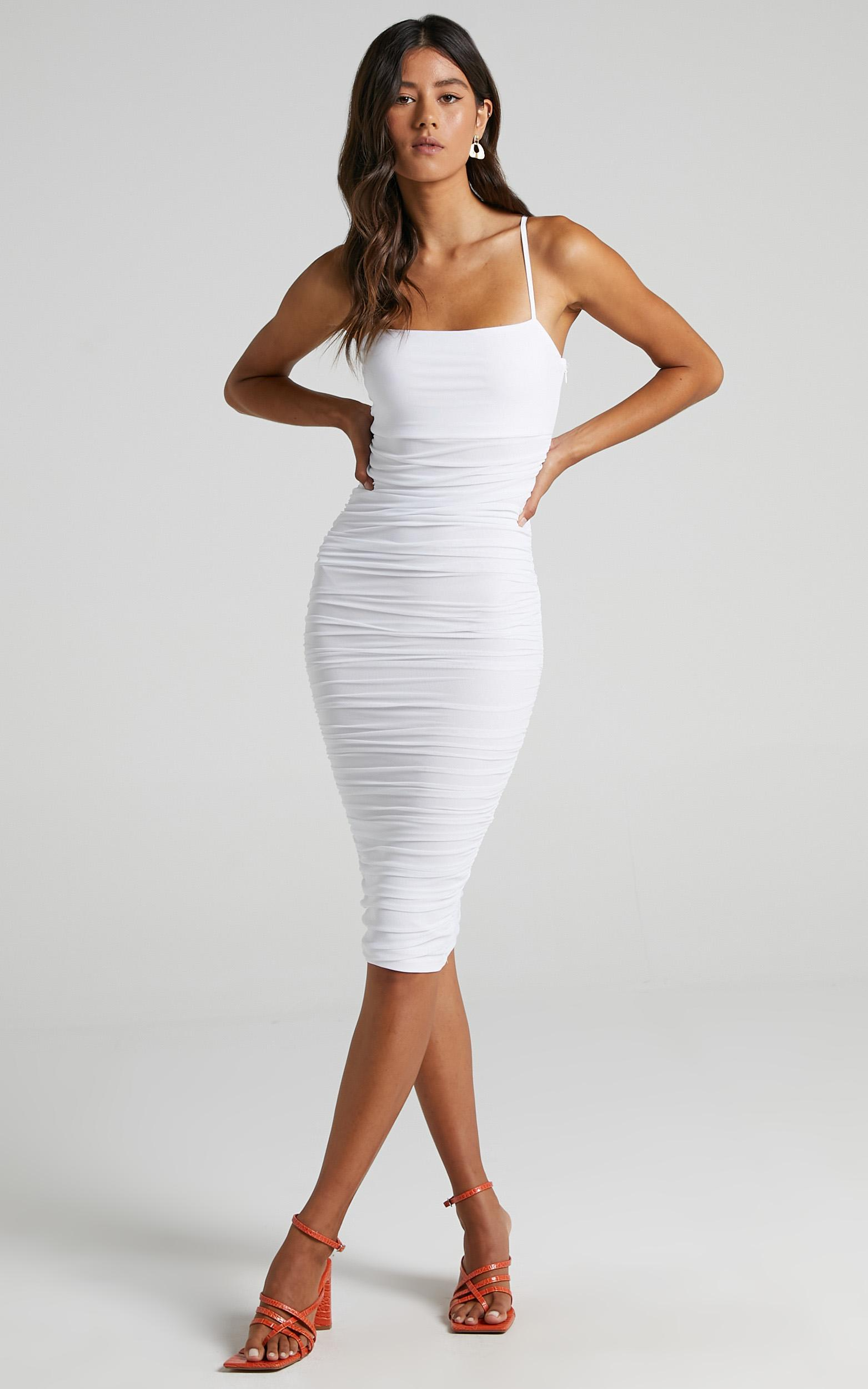 White mesh dress from Showpo