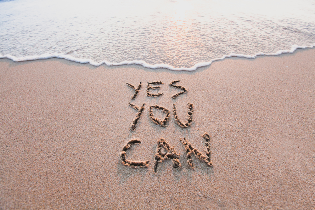 Inspirational quotes: Yes you can