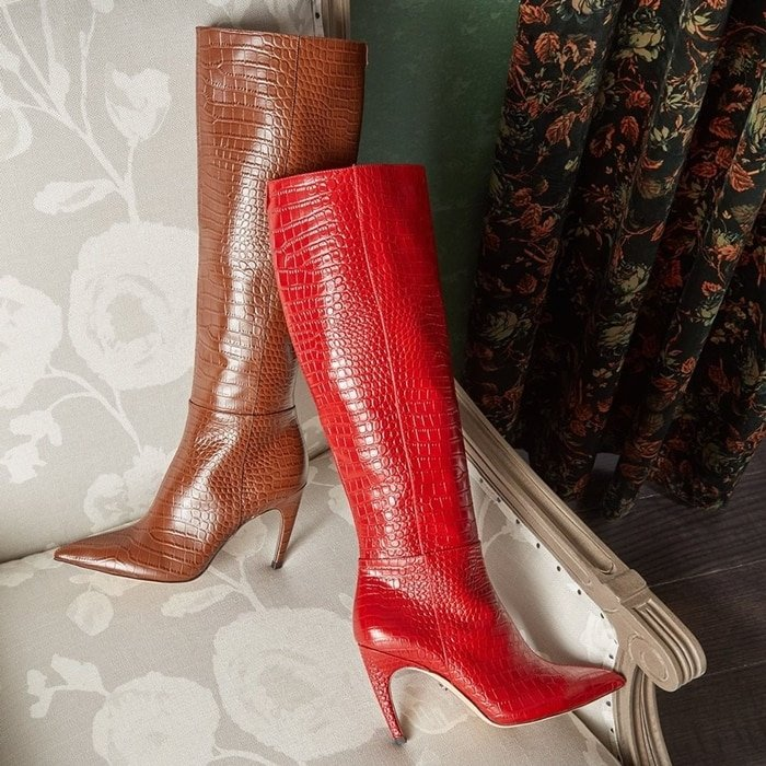 Snakeskin boots inspired by Italian fashion