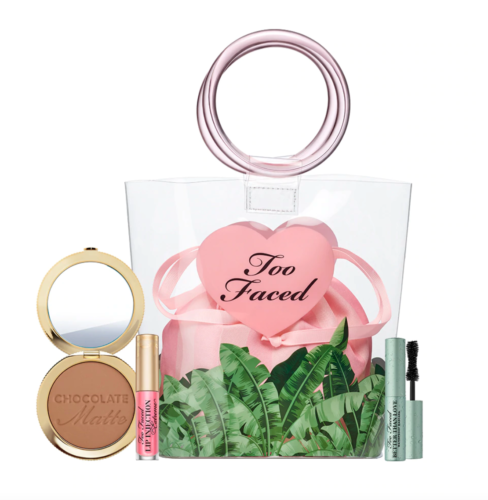 Beach bag beauty essentials from Too Faced