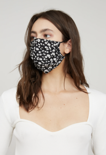Black and white print daisy mask from Lucy Paris.