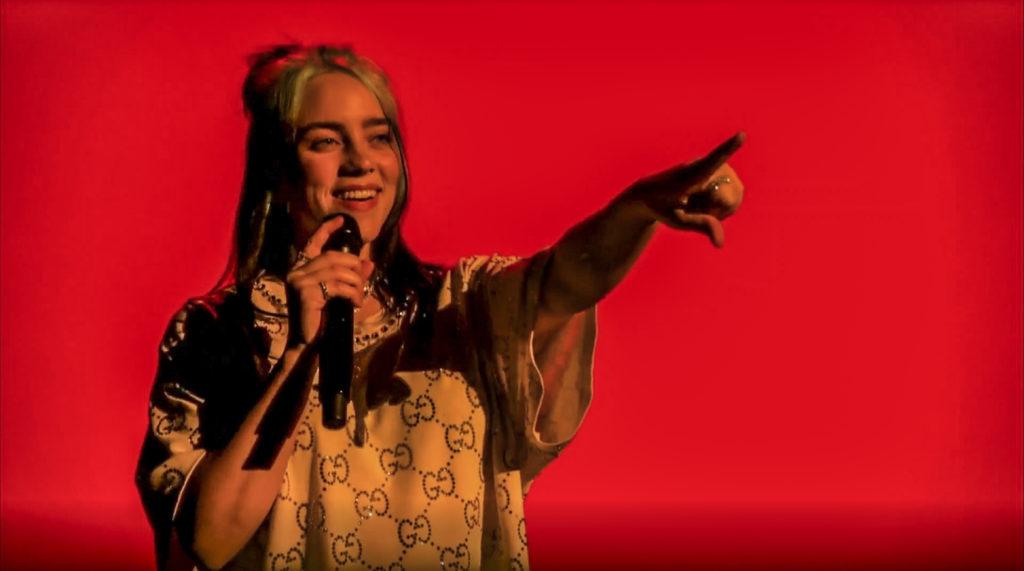 Billie Eilish in Gucci