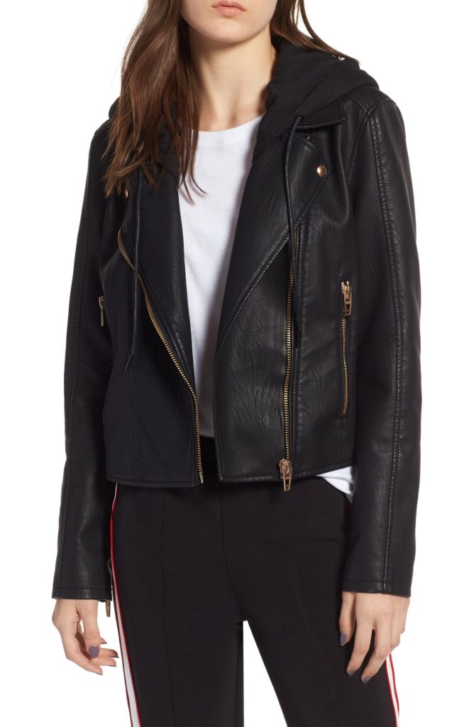 College wardrobe essentials: Oversized leather jacket