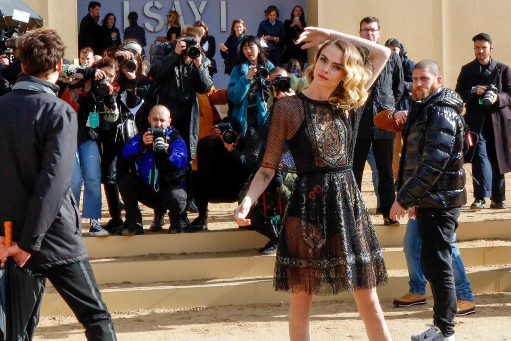 Model Cara Delevingne outside Dior show 2020