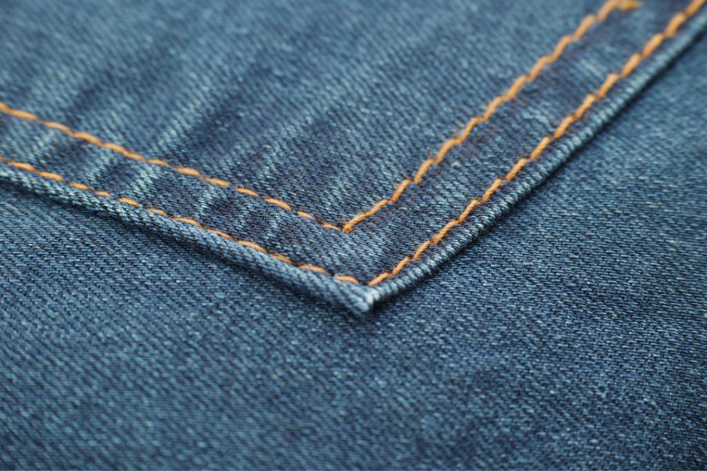 Denim fabric up close