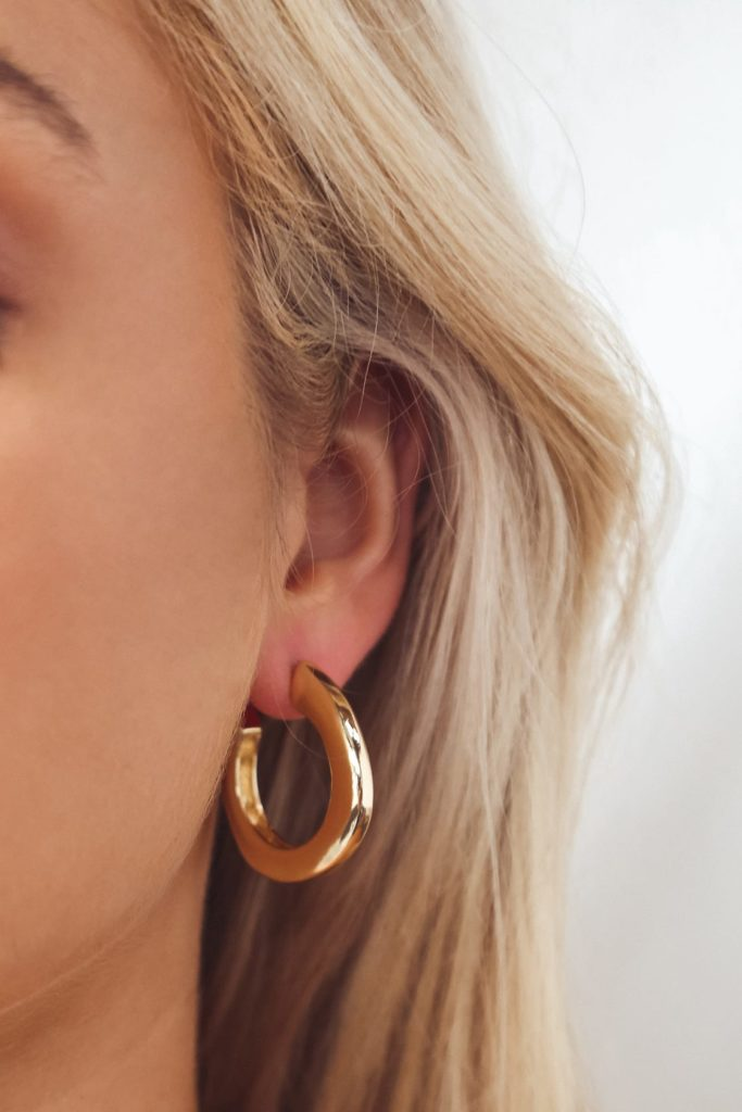 Chunky gold hoops from Lulus