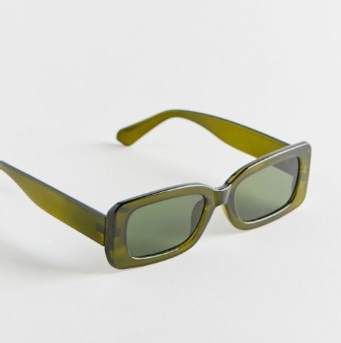 Urban Outfitters Green Chunky Rectangle Sunglasses