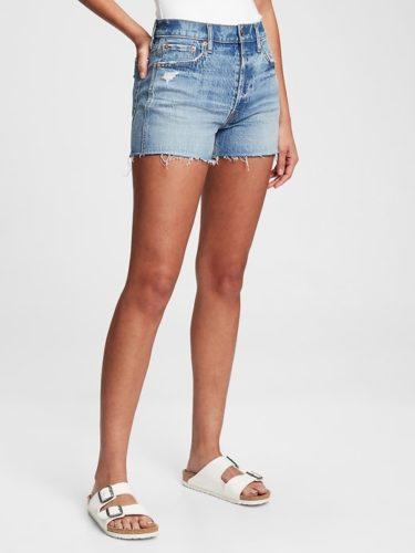 Gap High Rise Cheeky Denim Shorts