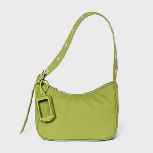 Target Green Zip Closure Bag