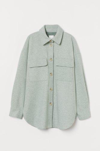 H&M Green Shirt Jacket