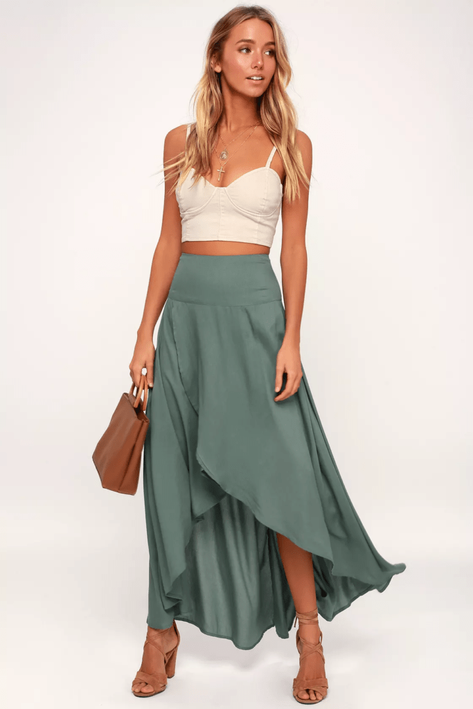 Lulus high low skirt - must haves for boho style