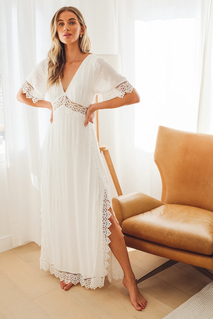 Lace maxi dress from Lulus