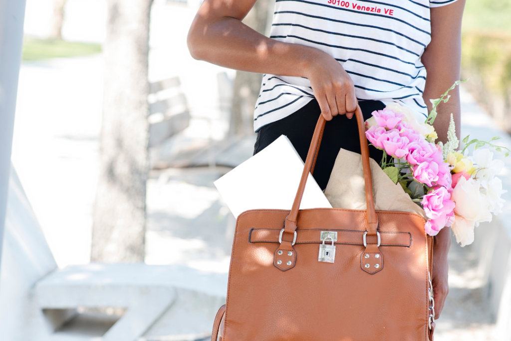 Woman with a full purse
